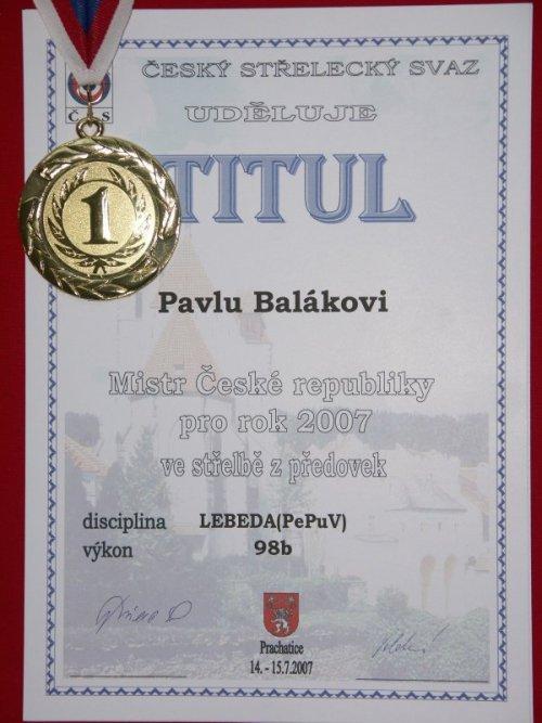 Pavel Balák-diplom