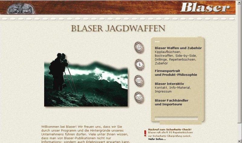 Blaser-obsah