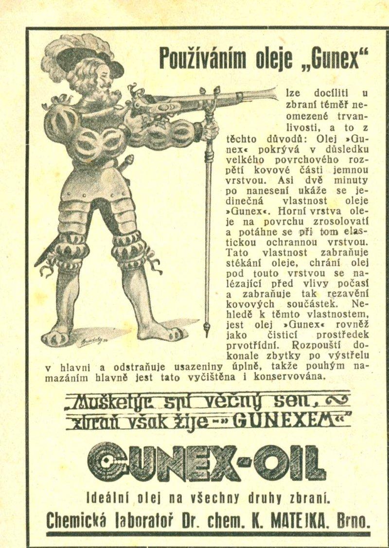 Gunex-inzerát