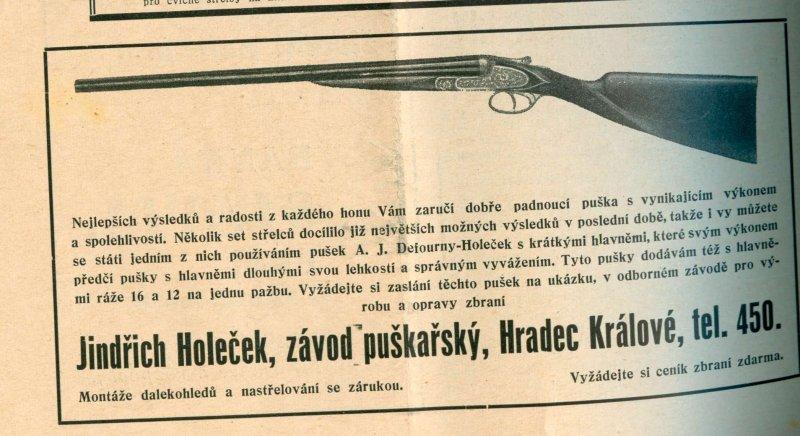 Jindřich Holeček-inzerát