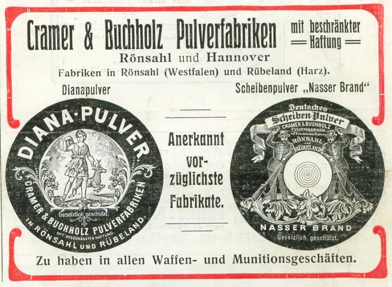 Cramer&Buchholz Pulverfabriken Rönsahl und Hannover