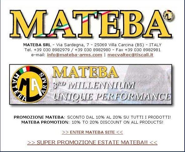 Mateba-titulní strana