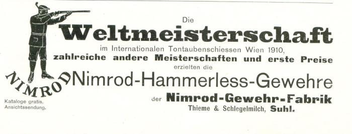 Nimrod-Thieme-Schlegelmilch-inzerát