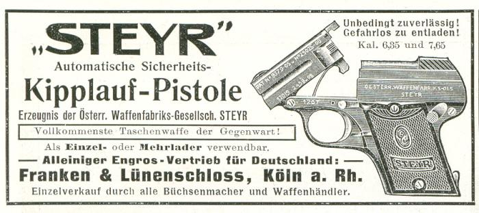 Franken & Lünenschloss-pistole Steyr 1909