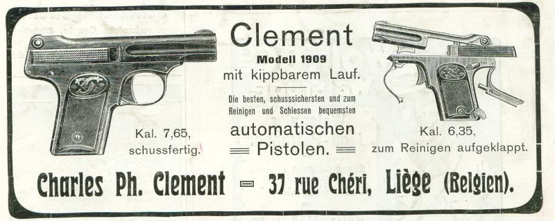Pistole Clement 1909