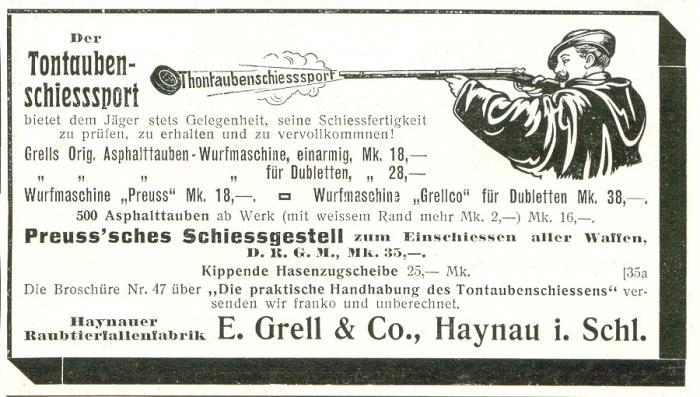 Haynauer Raubtierfallenfabrik E.Grell