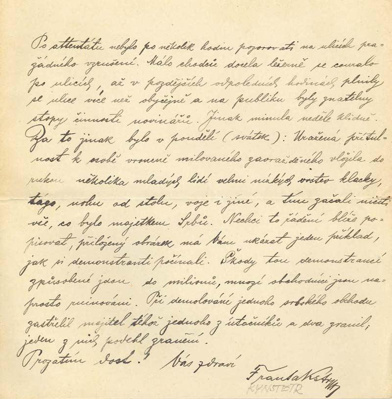 Dopis ze Sarajeva