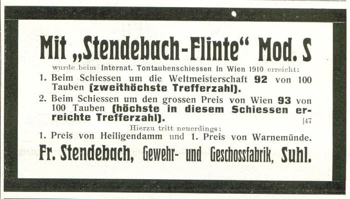Fr.Stendebach, Gewehr- und Geschossfabrik, Suh