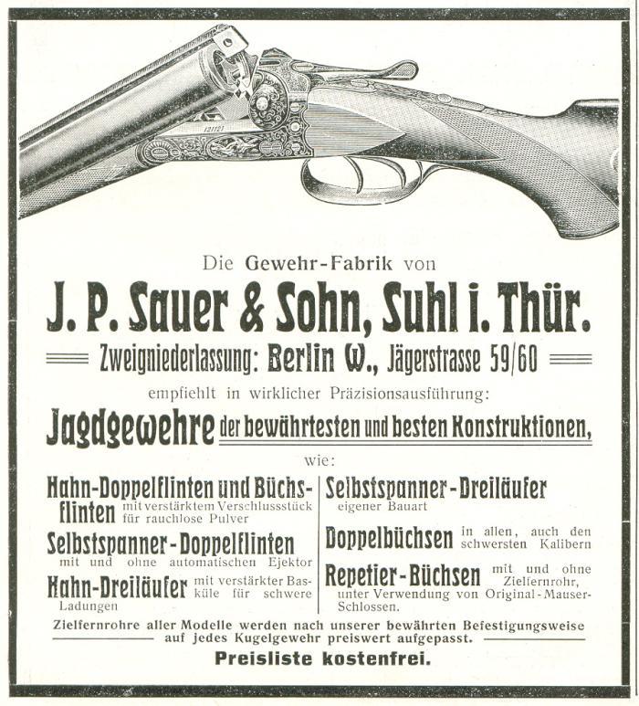 J.P.Sauer, 1910