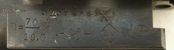Detail zkušebních značek