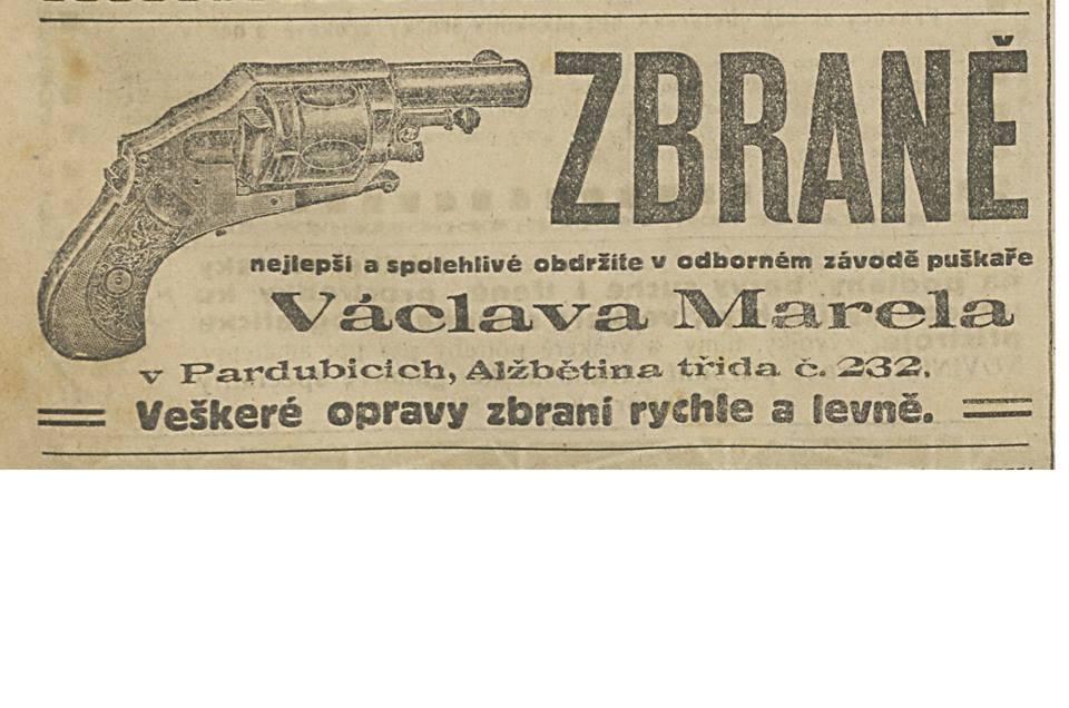 Václav Marel v Pardubicích-inzerát pu¹kaøe