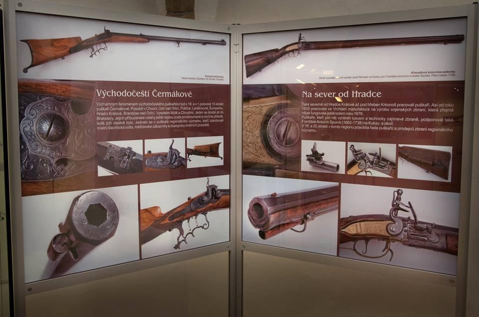 Zbraně východočeských puškařů-výstava ve Východočeském muzeu v Pardubicích